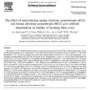 اثر تجویز گنادوتروپین جفتی اسب (ECG) و گنادوتروپین جفتی انسانی