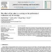 تأثیر حسابداری ارزش منصفانه بر نقش ارزیابی عملکرد سود