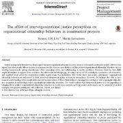 تأثیر ادراک عدالت بین سازمانی بر روی رفتار شهروندی سازمانی