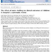 تأثیر استخدام پرستار بر روی نتایج بالینی کودکان در بیمارستان: یک ارزیابی سیستماتیک