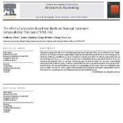 تأثیر استانداردهای مبتنی بر اصول بر مقایسه پذیری صورتهای مالی
