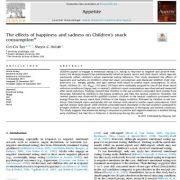 اثرات خوشحالی و ناراحتی روی مصرف اسنک در کودکان