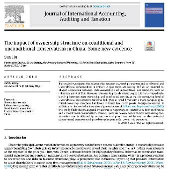 تاثیر  ساختار مالکیت بر  محافظه کاری شرطی و غیر شرطی در چین: شواهد جدید