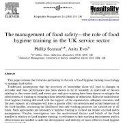 مدیریت ایمنی غذا، نقش  آموزش بهداشت غذایی در بخش خدمات بریتانیا