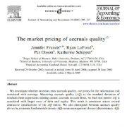 قیمت گذاری بازاری کیفیت اقلام تعهدی