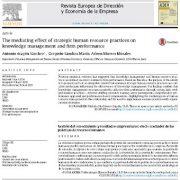 اثر واسطهای عملیات منابع انسانی راهبردی بر مدیریت دانش