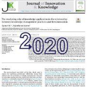 نقش واسطهای کاربرد دانش در رابطهی بین شیوههای مدیریت دانش و نوآوری