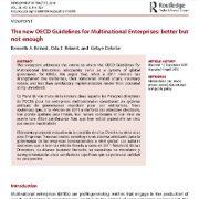دستور العمل های OECD جدید برای شرکتهای چند ملیتی: بهتر ولی ناکافی