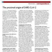 منشا تقریبی کروناویروس جدید SARS-COV-2