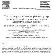 مکانیسم بازیابی فلزات گروه پلاتینوم از مبدلهای کاتالیستی