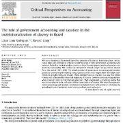 نقش حسابداری دولت و وضع مالیات در نهادینه سازی بردگی در برزیل