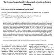 بررسی اهمیت و نقش انعطاف پذیری روان شناختی در ارتباط…