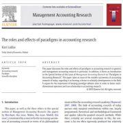 نقشها و اثرات الگوها در تحقیقات حسابداری