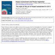 سرمقاله: بالاترین سطح ارزیابی اثر در ۲۰۱۲