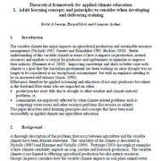 قالب  تئوریک  برای تعلیم  و آموزش در خصوص آب و هوا
