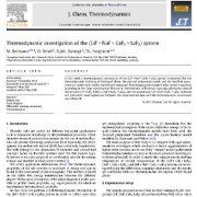مطالعه ترمودینامیکی سیستم (LiF + NaF + CaF2 + LaF3)