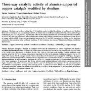 فعالیت کاتالیزوری سه راهه کاتالیزورهای مس