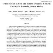 فلزات کمیاب در خاک و گیاهان در اطراف یک کارخانه سیمان