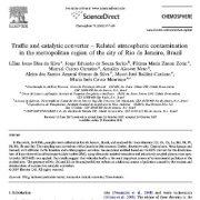 مبدل ترافیکی و کاتالیستی- آلایندگی اتمسفری مربوطه در منطقه شهری