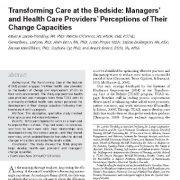 تحول مراقبت و درمان در بالین و بستر بیمار: تصور مدیران و پزشکان