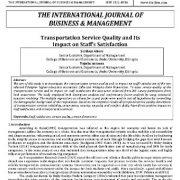 کیفیت خدمات حمل و نقل و تأثیر آن بر رضایت کارکنان