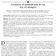درمان شوره سر با شامپوی ۵٪ روغن درخت چای