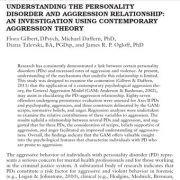 مطالعه ی رابطه ی میان اختلالات  شخصیت و خشونت