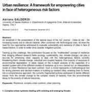 تاب آوری شهری: چارچوبی برای توانمند سازی شهرها در مواجهه با فاکتورهای خطر