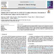 "<span itemprop=""name"">نیاز مبرم به تست های سریع برای تشخیص آنتی ژن SARS-COV-2</span>"