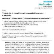 ویتامین B6: یک ترکیب طولانی شناخته شده با پیچیدگیهای تعجب آور