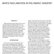 بازیافت پسماند و زباله در صنعت پلیمر