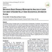 تحلیل مورفومتریک زهکشی مبتنی بر حوزه آبخیز  در حوزه لیدر  در دره  کشمیر