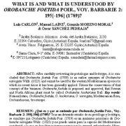"<span itemprop=""name"">بررسی ریشه نام OROBANCHE FOETIDA POIR در مطالعات گیاه شناسی فرانسه</span>"
