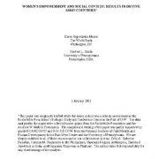 توانمند سازی زنان و شرایط و زمینه های اجتماعی: مطالعه در ۵ کشور آسیایی
