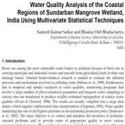 آنالیز کیفیت آب مناطق ساحلی تالاب مانکرو حومه شهری هندوستان