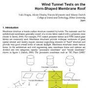 آزمایشات تونل باد روی سقف غشایی شاخی (بوقی) شکل