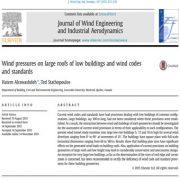 فشار های باد روی سقفهای بزرگ ساختمانهای کم ارتفاع و استاندارد