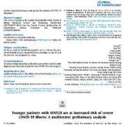 بیماران جوانتر(کودکان) مبتلا به MAFLD در معرض خطر ابتلا به بیماری شدید COVID-19 قرار دارند