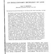 جامعه شناسی تکاملی عشق