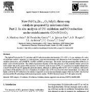 کاتالیزورهای سه راهه xZr1−xO2/Al2O3 Pd/Ce جدید تولید شده