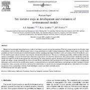 ده مراحل تکراری در توسعه و ارزیابی مدلهای زیست محیطی