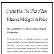 اثر راهبرد پلیسی تسامح بر روی پلیس: پاسخگویی پلیس