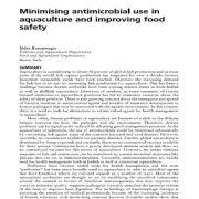 کاهش استفاده ضد میکروبی در تکثیر و پرورش آبزیان و بهبود ایمنی غذایی