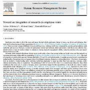 به سوی یکپارچه سازی تحقیقات در زمینه ی آوا و صدای کارکنان