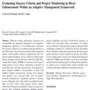 ارزشیابی معیار موفقیت و پایش پروژه در بهبود رودخانه